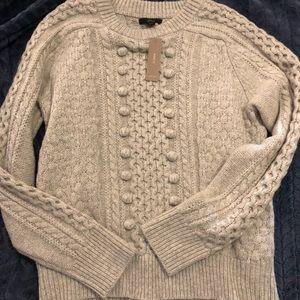 J. Crew lambswool chunky sweater